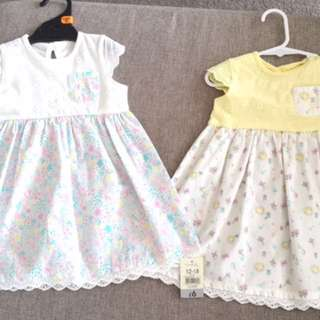 Brand new baby dresses 12-18 months