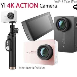 (New) Xiaomi Yi 4k travel camera/recorder