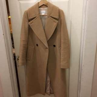 CLUB MONACO 'Daylina' Wool Coat - Small / Camel