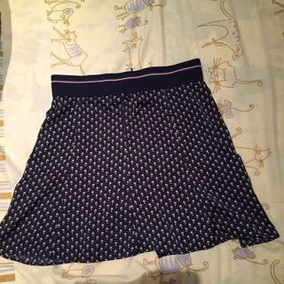 ZARA NAVY SKIRT (small)