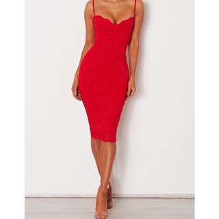 Nookie Paris Lace Midi Red RRP $240