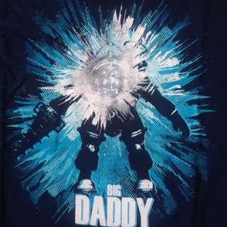 Unisex/Men's T-Shirt Medium Navy - Bioshock/Big Daddy/Parody/Classic/Movie/Horror/