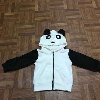 panda hooded jacket