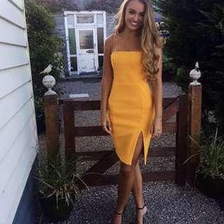 Kookaï honey dress- yellow