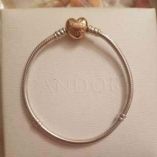 Pandora Rose gold Bracelet size 18