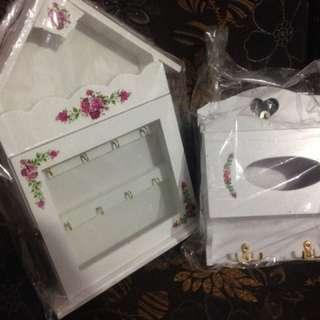 Rumah kunci & kotak tisu