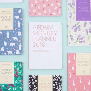 Ardium Monthly Planner 2018