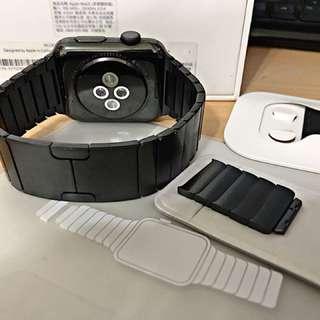 貼換 iphone X 用 Apple Watch 42mm  不鏽鋼  42 非 38mm 38 8 plus 64G
