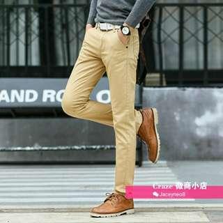 Chino Casual Slim Pants for men (Khaki colour - Size 31)
