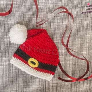 New Handmade Santa Claus Baby Hat