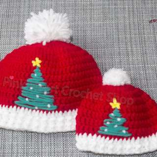 New Handmade Christmas Tree Baby Hat