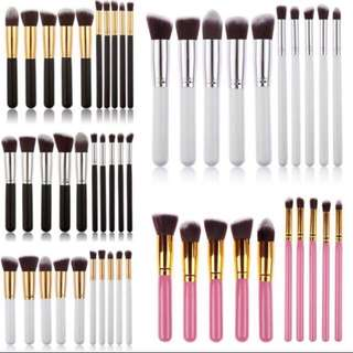 Kabuki 10pcs Professional Soft Make Up Brush Set