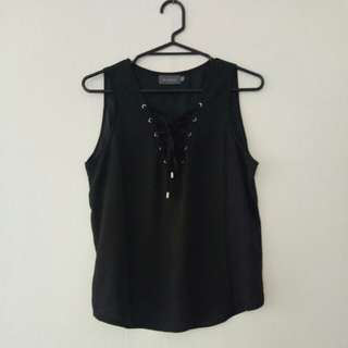 Mirrou Lace-up top