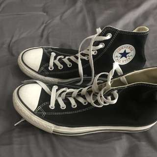 Converse Size 9 Black High Tops
