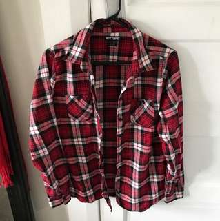 Red button up flannel
