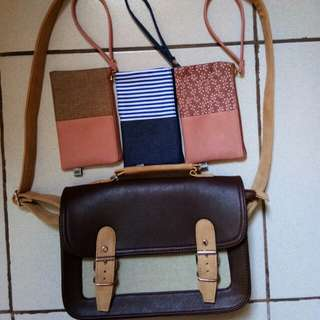 Authentic EGG sling bag & wallets (TAKE ALL)