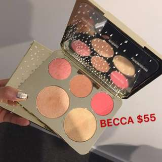 Becca highlight and blush palette