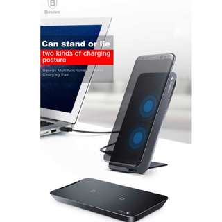 Baseus Qi Fast Wireless Charger For iPhone X Samsung Note 8 S8 Plus S7 S6 Edge