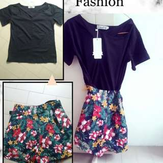 2in1 blouse and short