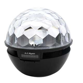 AC Ryan Playon!Sparkle FM/BT portable speaker with disco LED lights.