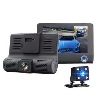 "4"" Inches Three-way Car Camera FullHD 1080P Video 170 degree Wide Angle Dashcam"