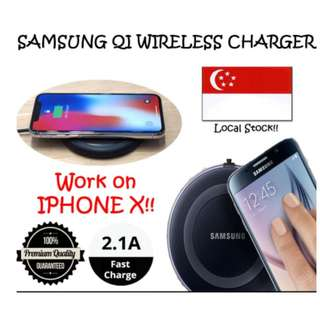 SAMSUNG QI WIRELESS CHARGER PAD!!! IPHONE X 8/8P