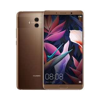 Huawei Mate 10 (Mocha Brown) with new original flip case