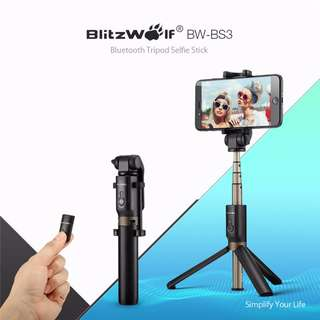 BlitzWolf 3in1 Bluetooth Tripod Selfie Stick