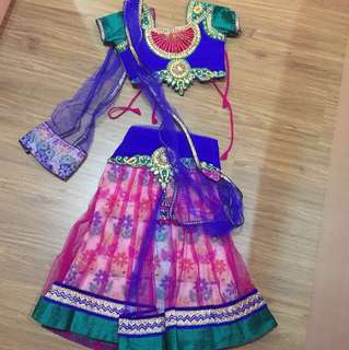 Two piece lehenga saree