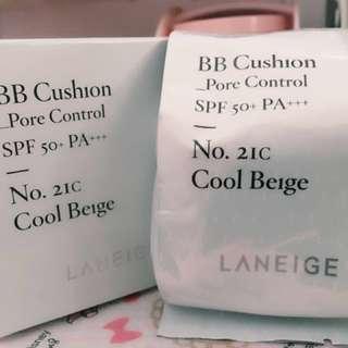 蘭芝 水聚光氣墊補充包 21C #三百美妝