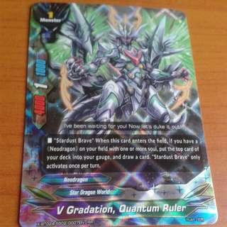 Buddyfight Card STAR DRAGON WORLD- V Gradation, Quantum Ruler (X-BT02A-SS02/0007EN) RR