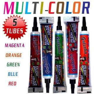 Multi color Henna Cone/Tube