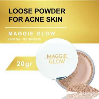 MAGGIE GLOW ACNE JERAWAT LOOSE POWDER 20GR