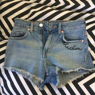 Denim shorts H&M
