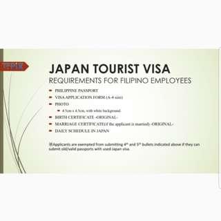 Japan Visa Application (Non-appearance)
