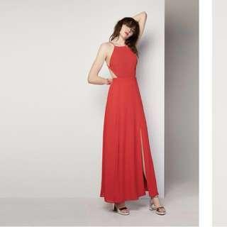 Backless Dreamer Red Dress (Fame&Partners)