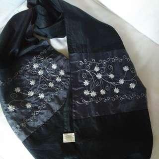Laura Ashley silk shawl