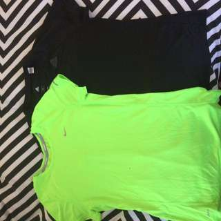 Nike and adidas sport tees