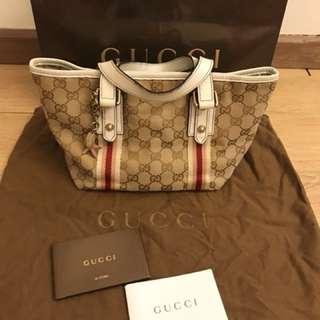 💯 authentic Gucci canvas short handles For Let Go!!