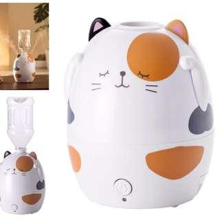 日本Three-up 三色貓型超音波式加濕器