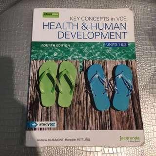 HEALTH AND HUMAN DEVELOPMENT unit 1 and 2 Jacaranda