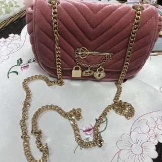 Aldo Preloved velvet sling bag