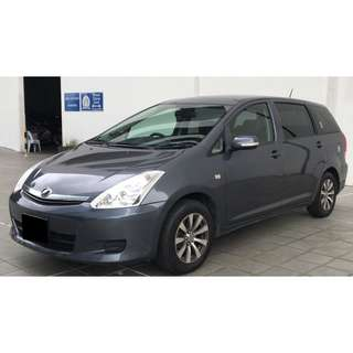 Toyota Wish 1.8A MPV 7seaters for Long Term Car Rental