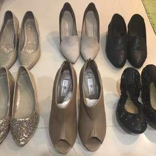 24~24.5號時尚真皮二手鞋出清剩後排左右兩雙