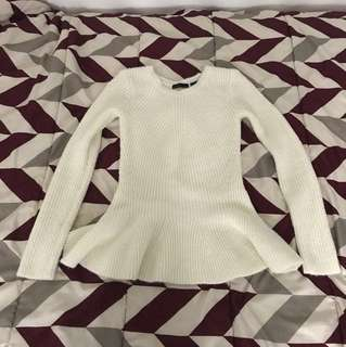 PRESS Peplum Sweater