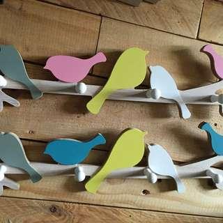 Wooden Bird Rack