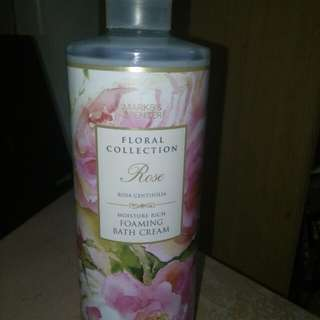 Marks and Spencer Rose Foaming Bath Cream