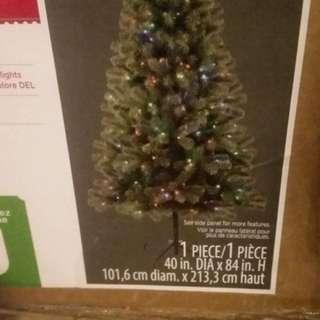 7' pre-lit Christmas tree