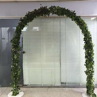 Wedding Arch Covered With Leaves For Rent/ Backdrop For ROM