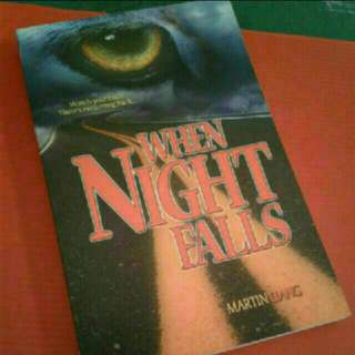 """Supernatural Horror Singapore FICTION Local Novel  Horror Paranormal Ghost  When Night FALLS MARTIN LIANG  Watch your back! There's no turning back....   A romance-horror tale byMartin Liang  A """"Must"""" Reading for anyone who are ances"""